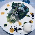 sazantawa-dainingu - 東京サラダと真鯛のカルパッチョ バジルの香り