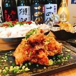 鶏の唐揚げ-コク旨ガーリックソース-