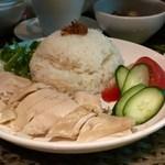 113081906 - チキンライス&スープ(1200円)