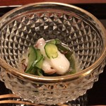懐石 辻留 - 蛸、胡瓜、若芽、紅蓼