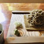 蕎麦切り大城 - 料理写真:白ネギがポイント高し!山葵も美味しゅうございます。