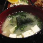 食季楽 風香 - きちんとした仕事をする居酒屋さんだから、ご飯とお味噌汁も美味しいですね。