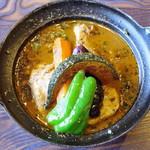 スパイス ポット - チキンと野菜のカレー