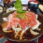 食房 杵 - 「卵とじ定食」の鍋