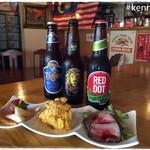 ケニーアジア - 前菜の盛合せ:アジアビールをお供に