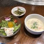 steakdining鷹 - 【ランチ】スープ・サラダ・香の物付き