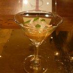 イル テアトリーノ ダ サローネ - 前菜1:雲丹と平目とリコッタ(2012.1)