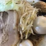 烈士洵名 - 岡村二郎@800円 麺大盛り+160円 味玉+100円 魚粉+50円