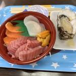 113113721 - トロ、サーモンにウニホタテと岩牡蠣