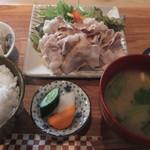 和酒処 純吟 - 豚肉の冷しゃぶランチ