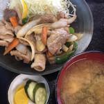 内田屋食堂 - 焼肉と味噌汁と、味のある漬け物