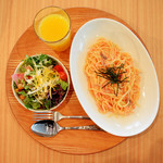 ロング テーブル - 【お食事セット】スパゲティ(たらこ+舞茸)