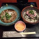 土風炉 - 蕎麦と小丼セット@850円 天丼か ねぎとろ丼から選べます