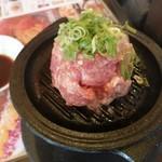 113129701 - レアハンバーグ(小)ごはん、スープ、サラダ付き 1080円