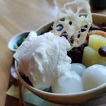 日本茶甘味処あずき - 白玉美味しい。