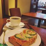 上島珈琲店 - ピザトースト、ブレンドコーヒー