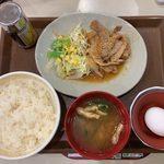 すき家 - 豚生姜焼き朝食 ¥400