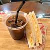 とまと - 料理写真:タマゴサンド220円、アイスコーヒー150円