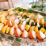 アンソレイエ - 柑橘のムースは果肉部分がムースになっています
