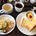 庵知来 - 料理写真:トーストモーニング500円