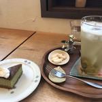 113164114 - 青梅ソーダと抹茶のチーズケーキ