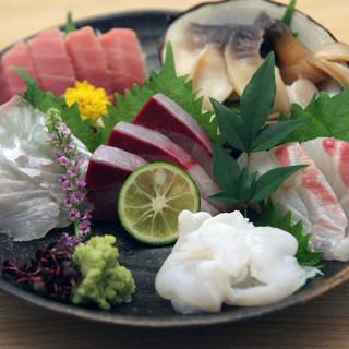 豊洲を中心とした新鮮な魚介類が自慢です!