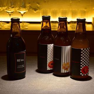豊富なメニュー。オリジナルクラフトビールあります。