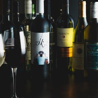 世界各国のワインメニューが充実!