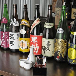 季節限定モノも!銘酒を揃えた厳選日本酒の数々!