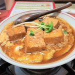大衆割烹 寿久 - 豆腐煮込み(玉子とじ入り)。玉子とじなしもあります。美味しいですよ。