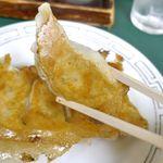 113194766 - 「餃子」は皮厚めで焼面パリパリ!