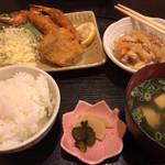 あじわい処 あかぎ - 海老フライ定食