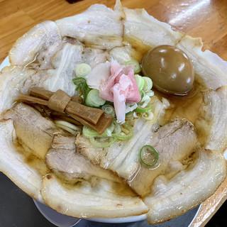 中華そば ひらこ屋 - 料理写真:バラそばと煮卵