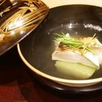 113203795 - お椀 松茸と鱧と冬瓜