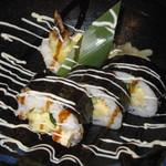 酒場 アカボシ - レディースコース「天むす風海老天太巻き寿司」