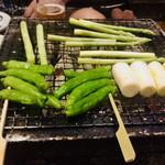出雲そばと炭火焼き 八雲 - 野菜焼き