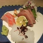 御料理 梅田 - ランチコースの刺身アップ