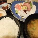 御料理 梅田 - ランチの刺身セット(1500円)