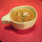 ムサコダイニング - ランチのスープ