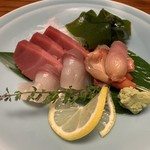 山長 - 料理写真:鮪・カンパチ・赤貝