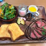 ケヤキカフェ - 仙台牛 イチボ肉 セットメニュー 2300円