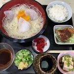 本牧亭 - 料理写真:ひやむぎ定食(850円)