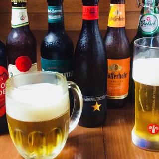 世界の人気ビールを30種類取り揃えております!650円〜