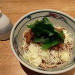 蕎麦・酒・料理 壱 - 冷やしドライカレー蕎麦(2019.7)