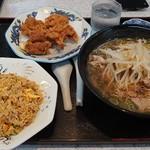 ラーメン藤 - 醤油ラーメンセット