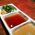 完全個室&食べ放題 焼肉ダイニングSae Style - こだわりのタレは濃厚胡麻たれ、特製ポン酢☆