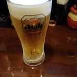 魚と豚と黒三兵 - 生ビール