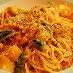 ピッツェリアSakai - ベーコンと蕪のトマトクリームソース スパゲティ (パスタランチメニュー)