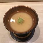 くりや - 裂きイカが印象的な茶碗蒸し