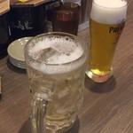 博多 一幸舎 - ドリンク写真:ハイボールと生ビール(笑)